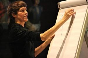 Sabine Wilharm zeichnet das S